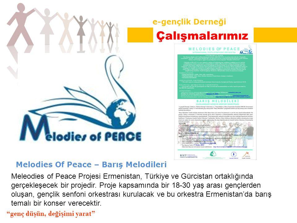 Melodies Of Peace – Barış Melodileri Meleodies of Peace Projesi Ermenistan, Türkiye ve Gürcistan ortaklığında gerçekleşecek bir projedir.