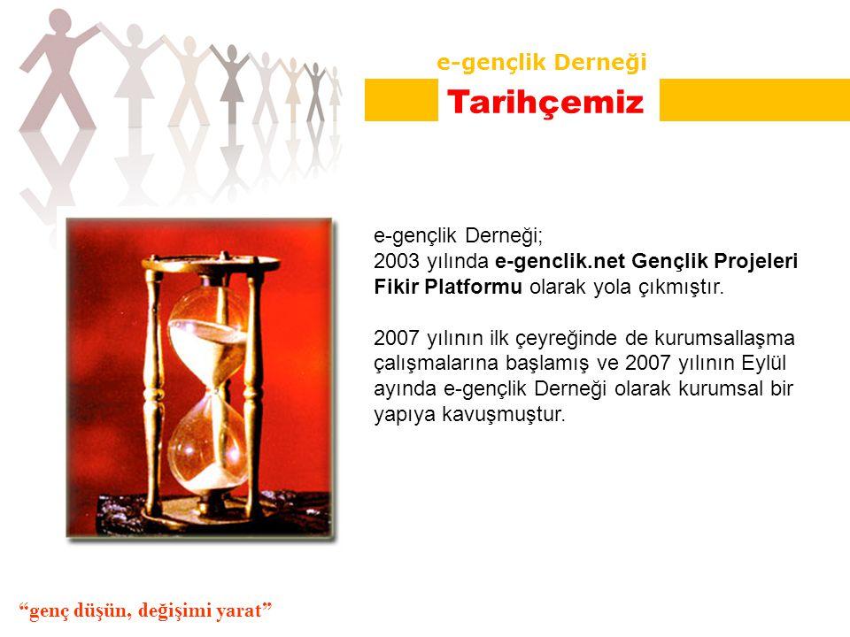 e-gençlik Derneği; 2003 yılında e-genclik.net Gençlik Projeleri Fikir Platformu olarak yola çıkmıştır.