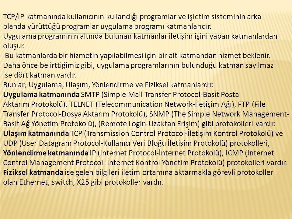 Ağ üzerindeki başka bir bilgisayara dosya aktarımı ve bağlanma için FTP protokolü kullanılır.