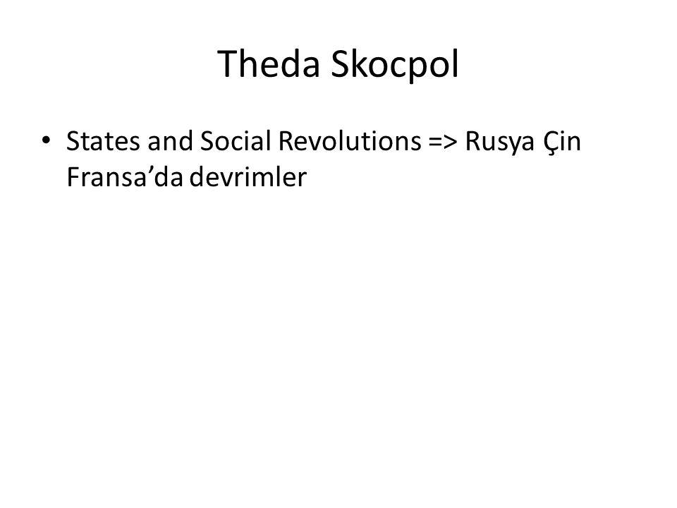 Theda Skocpol States and Social Revolutions => Rusya Çin Fransa'da devrimler