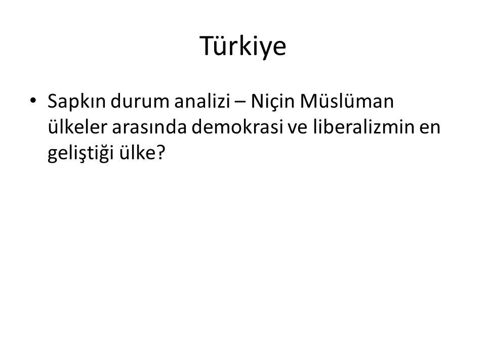 Türkiye Sapkın durum analizi – Niçin Müslüman ülkeler arasında demokrasi ve liberalizmin en geliştiği ülke?