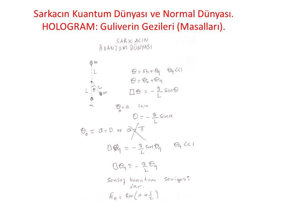 Sarkacın Kuantum Dünyası ve Normal Dünyası. HOLOGRAM: Guliverin Gezileri (Masalları).