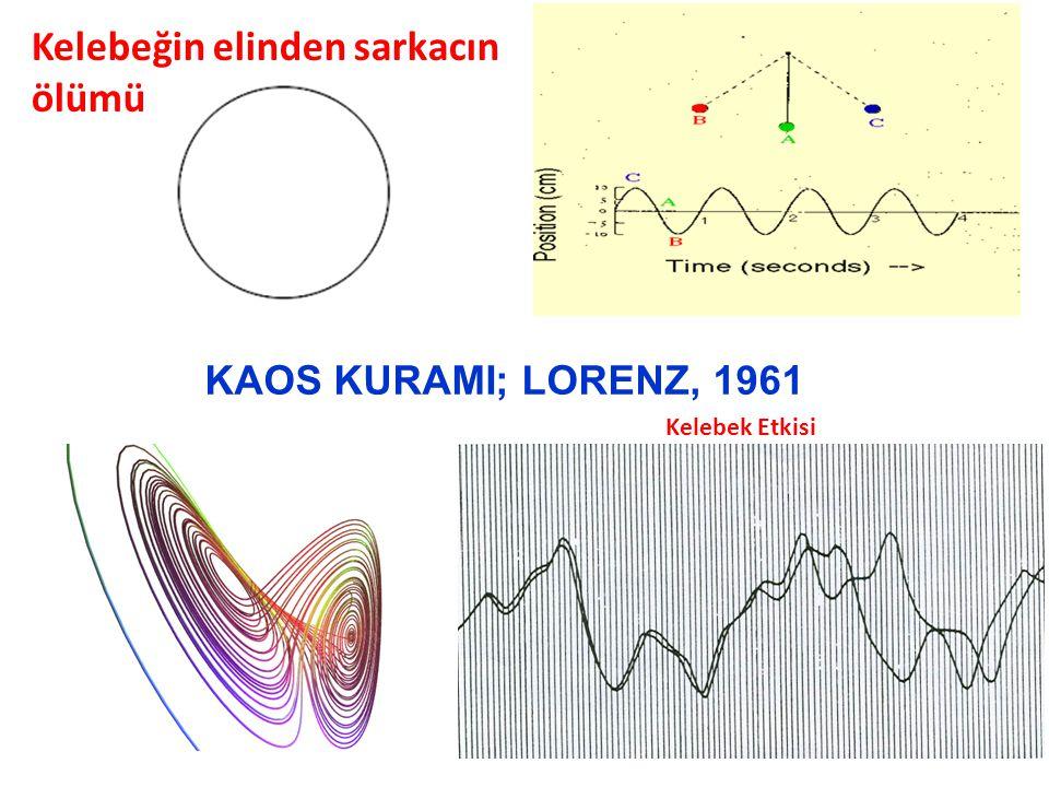 KAOS KURAMI; LORENZ, 1961 Kelebek Etkisi Kelebeğin elinden sarkacın ölümü