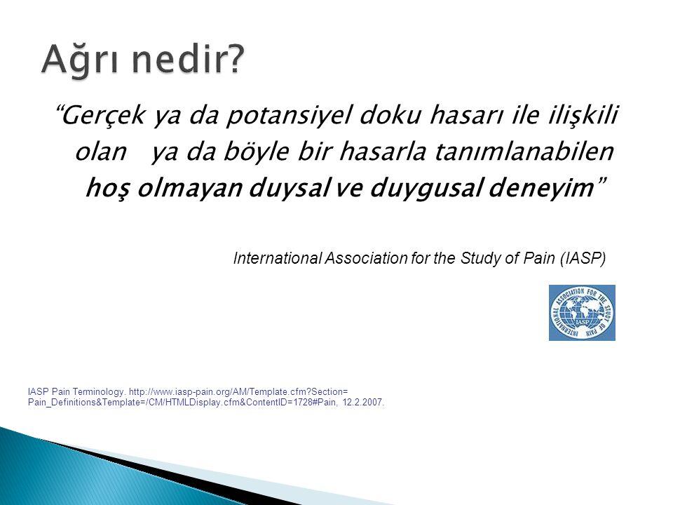  Uzun süreli ilaç kullanımı ağrıyı kronikleştirir.