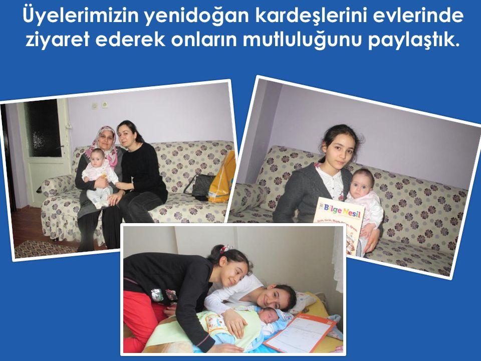 Üyelerimizin yenidoğan kardeşlerini evlerinde ziyaret ederek onların mutluluğunu paylaştık.