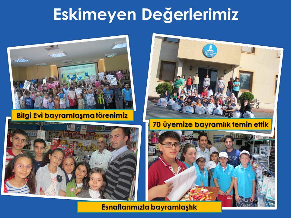 Eskimeyen Değerlerimiz 70 üyemize bayramlık temin ettik Bilgi Evi bayramlaşma törenimiz Esnaflarımızla bayramlaştık