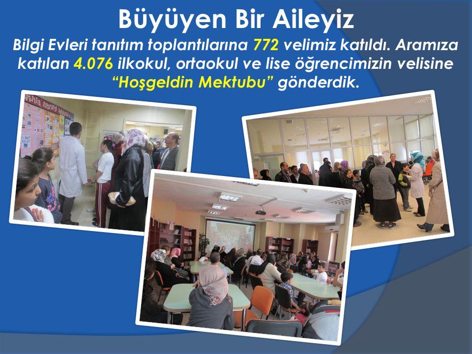 Bilgi Evleri tanıtım toplantılarına 772 velimiz katıldı.