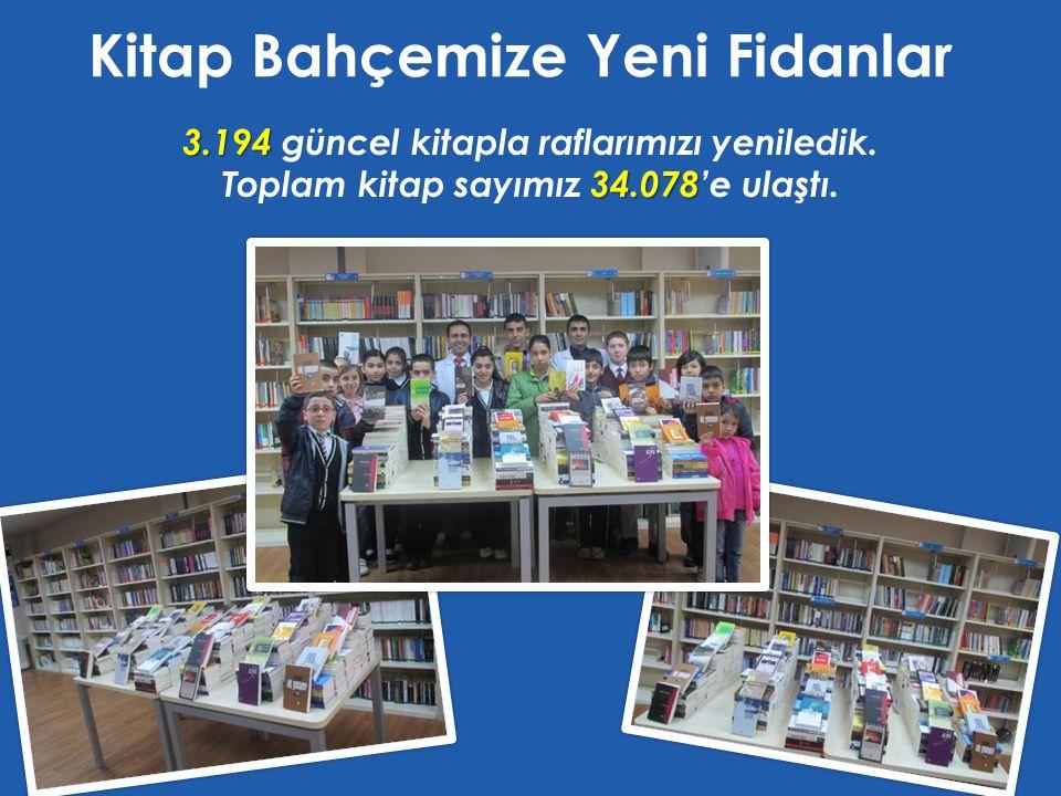 Kitap Bahçemize Yeni Fidanlar 3.194 3.194 güncel kitapla raflarımızı yeniledik. 34.078 Toplam kitap sayımız 34.078'e ulaştı.
