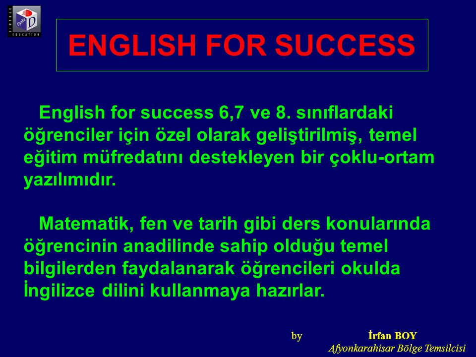 ENGLISH FOR SUCCESS English for success 6,7 ve 8.