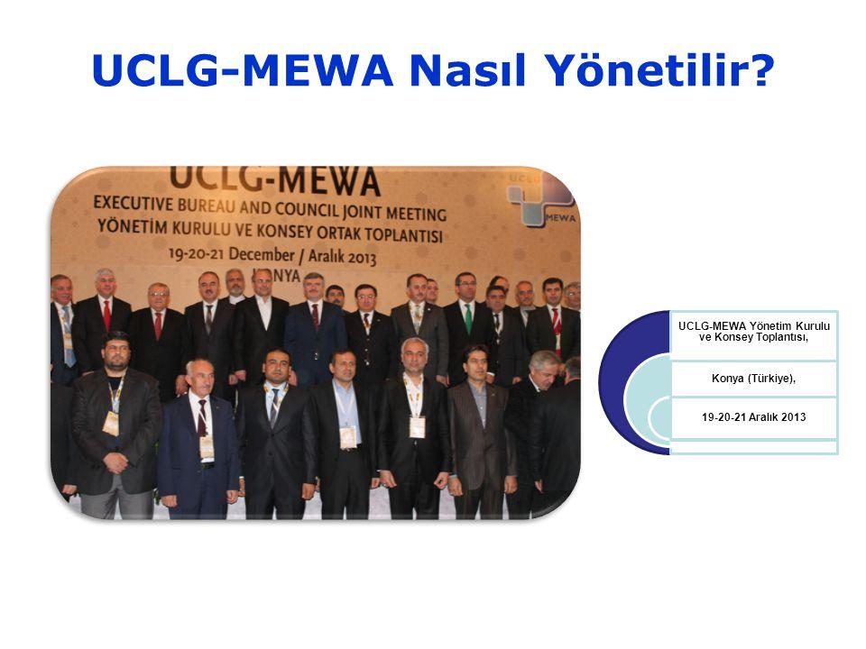 UCLG-MEWA Nasıl Yönetilir.