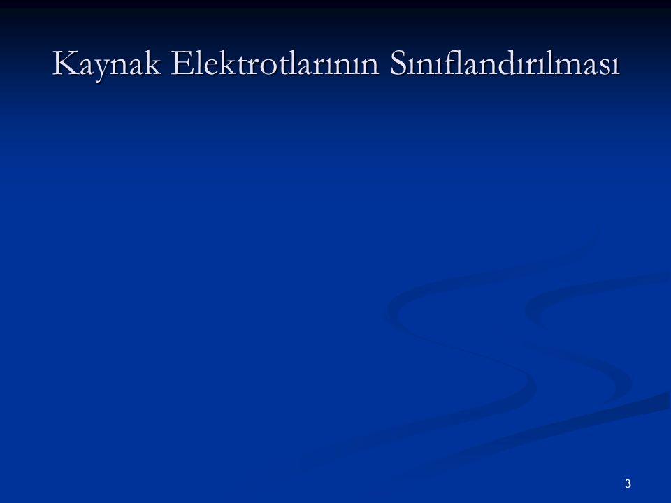 4 Erimeyen Tip Elektrotlar Sadece Ark Oluşumunu sağmak amacı ile kullanılan elektrotlardır.