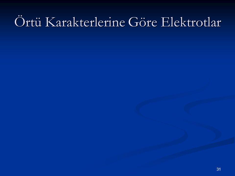 31 Örtü Karakterlerine Göre Elektrotlar