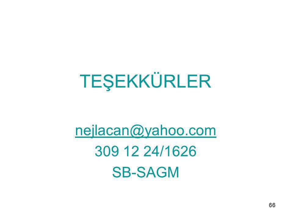 TEŞEKKÜRLER nejlacan@yahoo.com 309 12 24/1626 SB-SAGM 66