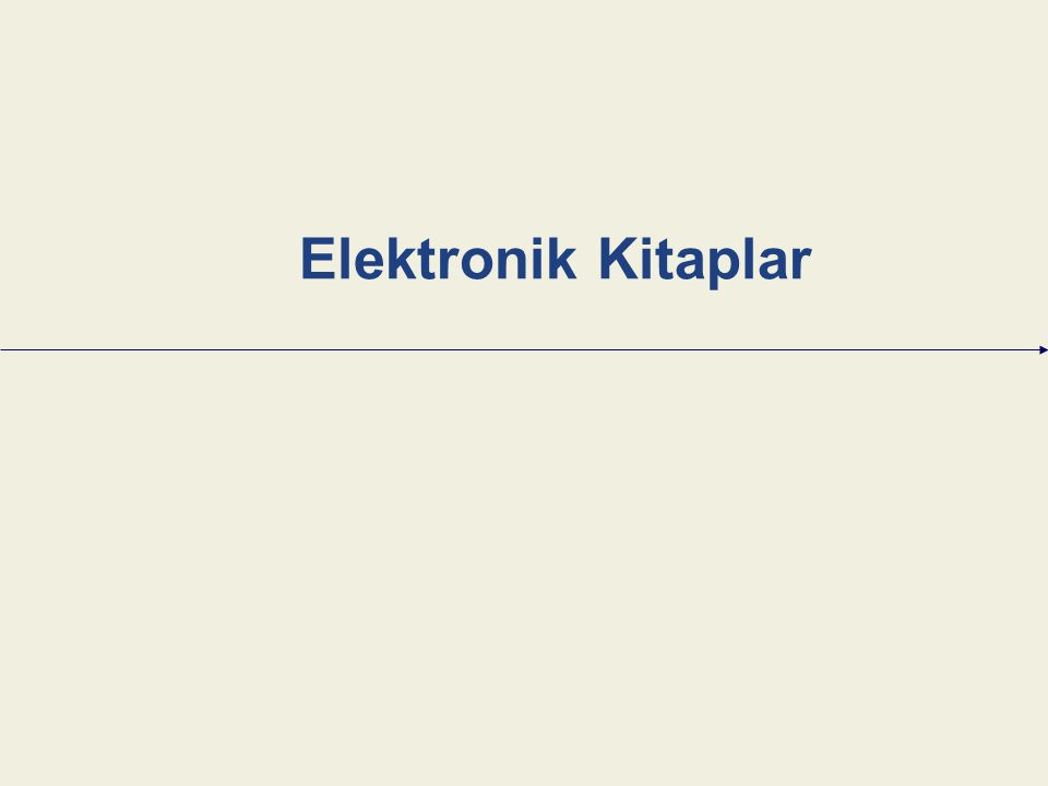 Elektronik Kitaplar
