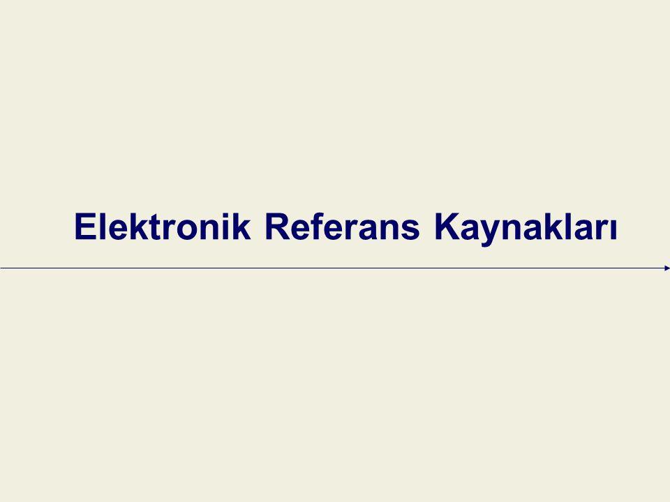 Elektronik Referans Kaynakları