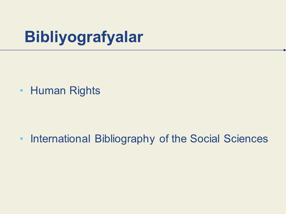 Bibliyografyalar Human Rights International Bibliography of the Social Sciences