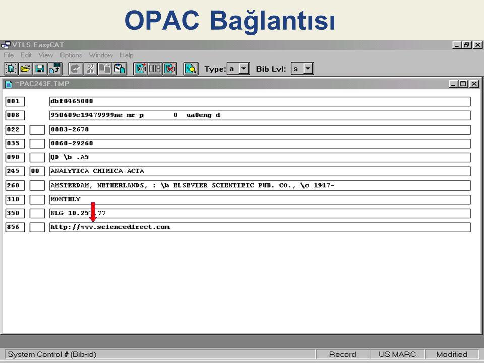 OPAC Bağlantısı