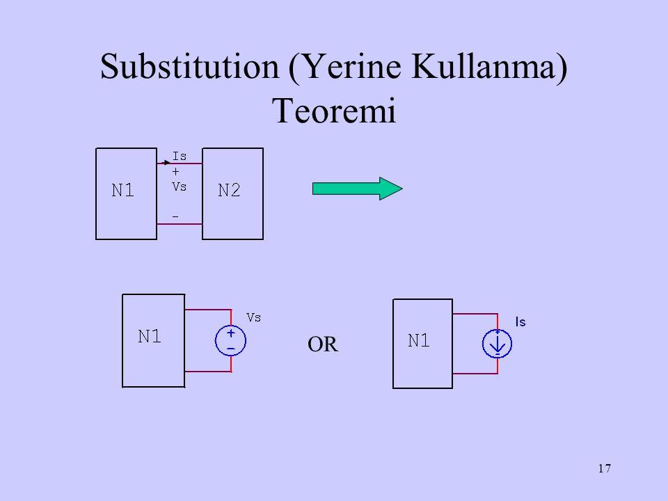 17 Substitution (Yerine Kullanma) Teoremi OR