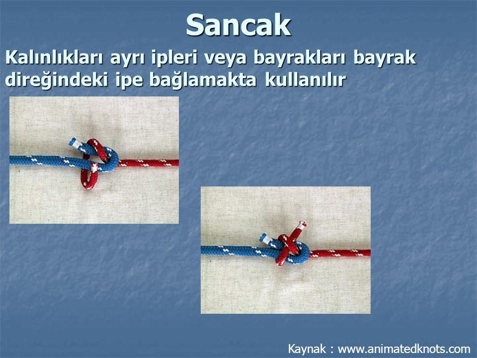 Islak ve kaygan iki ipi birbirine bağlamak için kullanılır.