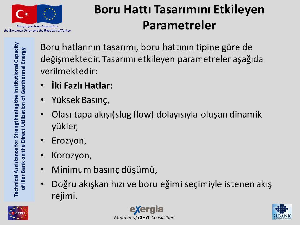 Member of Consortium This project is co-financed by the European Union and the Republic of Turkey Boru Hattı Tasarımını Etkileyen Parametreler Boru ha