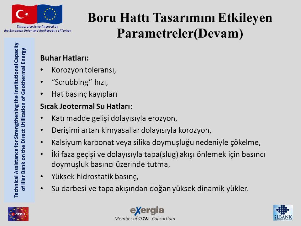 Member of Consortium This project is co-financed by the European Union and the Republic of Turkey Boru Hattı Tasarımını Etkileyen Parametreler(Devam)
