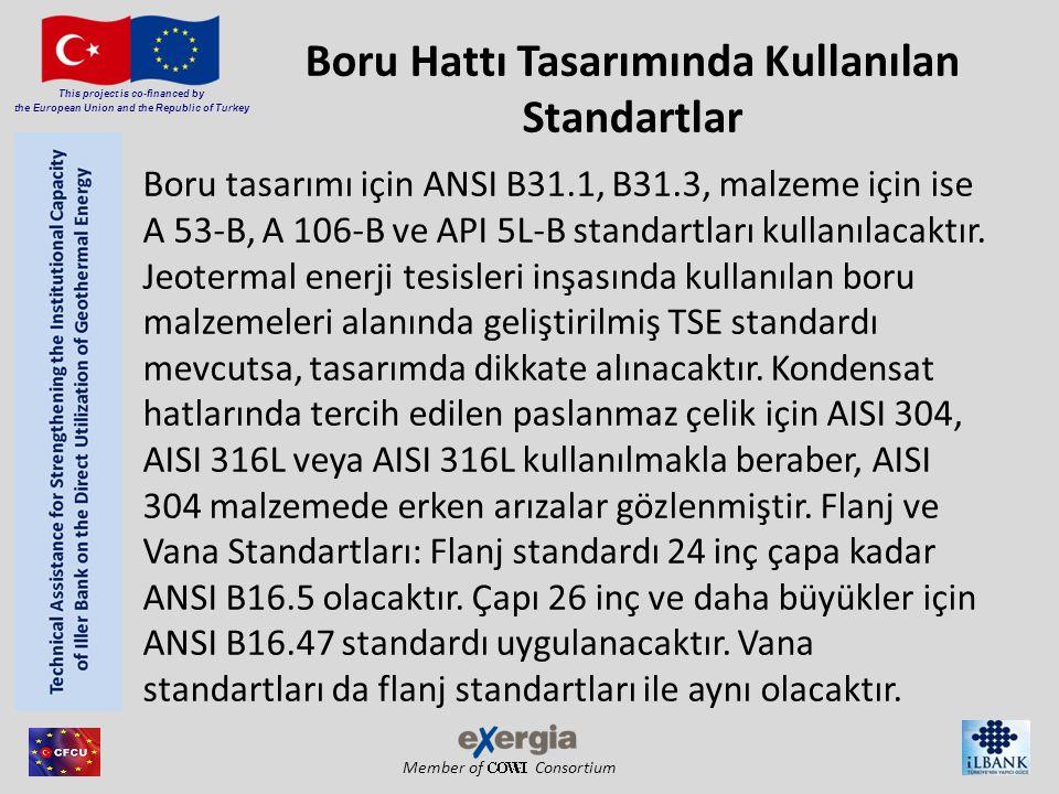Member of Consortium This project is co-financed by the European Union and the Republic of Turkey Boru Hattı Tasarımında Kullanılan Standartlar Boru t