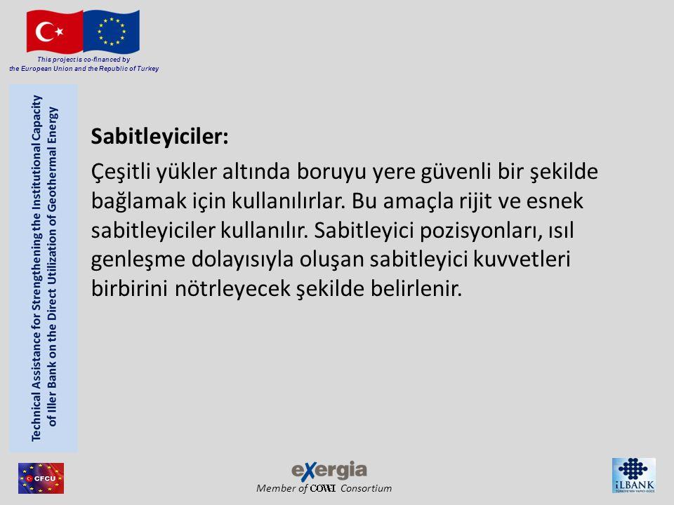 Member of Consortium This project is co-financed by the European Union and the Republic of Turkey Sabitleyiciler: Çeşitli yükler altında boruyu yere g