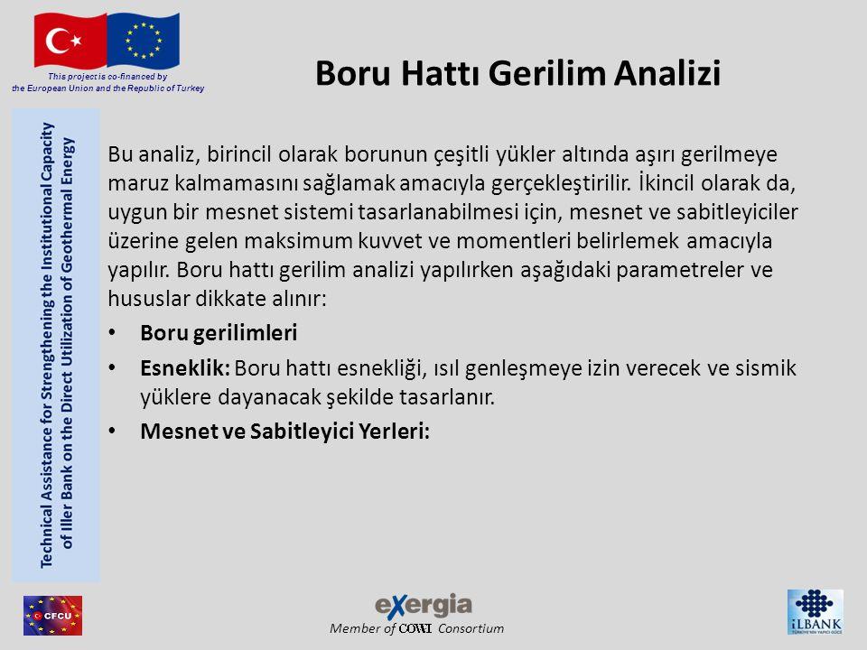 Member of Consortium This project is co-financed by the European Union and the Republic of Turkey Boru Hattı Gerilim Analizi Bu analiz, birincil olara