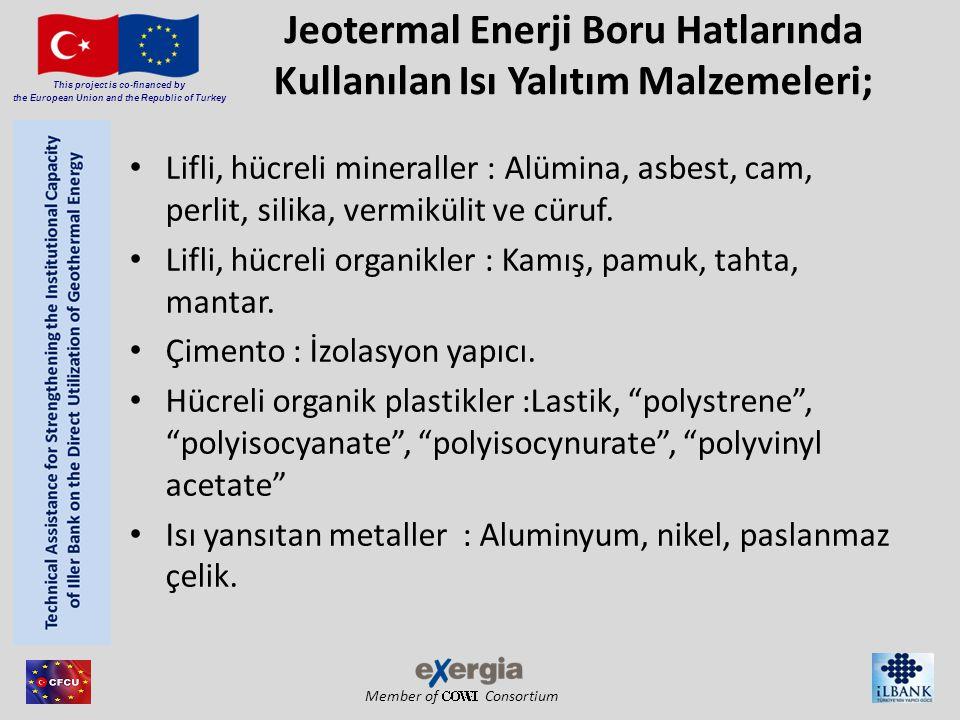 Member of Consortium This project is co-financed by the European Union and the Republic of Turkey Jeotermal Enerji Boru Hatlarında Kullanılan Isı Yalı