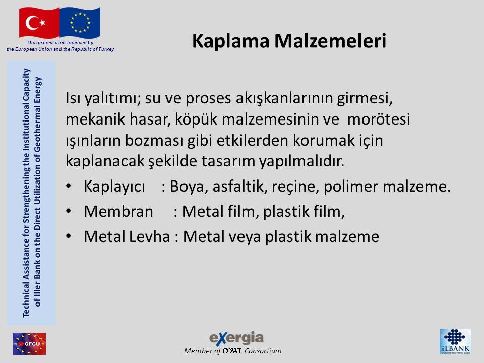 Member of Consortium This project is co-financed by the European Union and the Republic of Turkey Kaplama Malzemeleri Isı yalıtımı; su ve proses akışk
