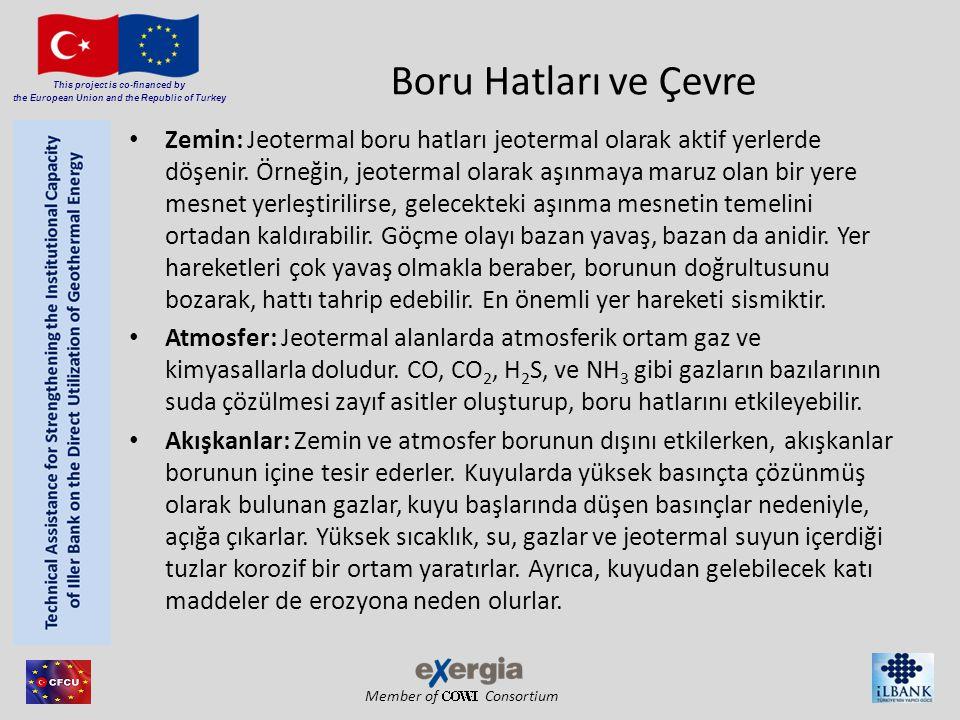 Member of Consortium This project is co-financed by the European Union and the Republic of Turkey Boru Hatları ve Çevre Zemin: Jeotermal boru hatları