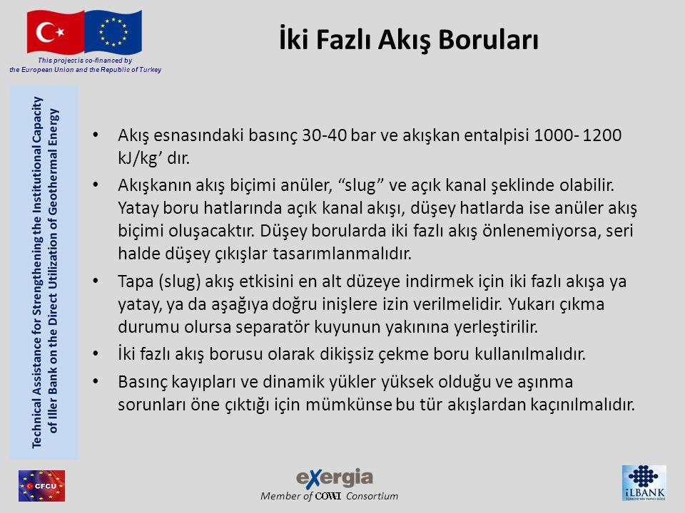 Member of Consortium This project is co-financed by the European Union and the Republic of Turkey İki Fazlı Akış Boruları Akış esnasındaki basınç 30-4