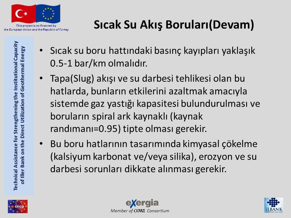 Member of Consortium This project is co-financed by the European Union and the Republic of Turkey Sıcak Su Akış Boruları(Devam) Sıcak su boru hattında