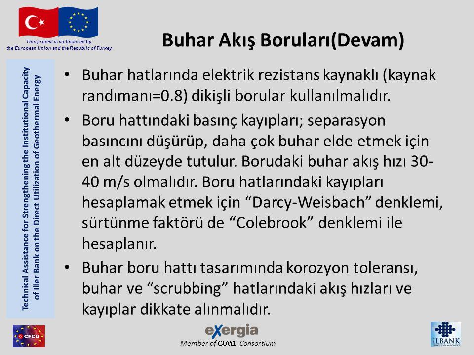 Member of Consortium This project is co-financed by the European Union and the Republic of Turkey Buhar Akış Boruları(Devam) Buhar hatlarında elektrik