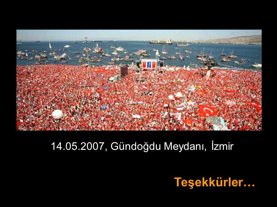 Teşekkürler… 14.05.2007, Gündoğdu Meydanı, İzmir
