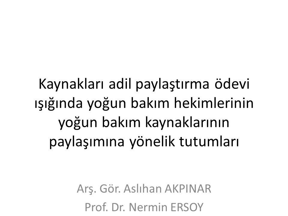 Sosyal özellikler Akpınar A, Ersoy N, KOU Tıp Fak. Tıp Tarihi ve Etik AD