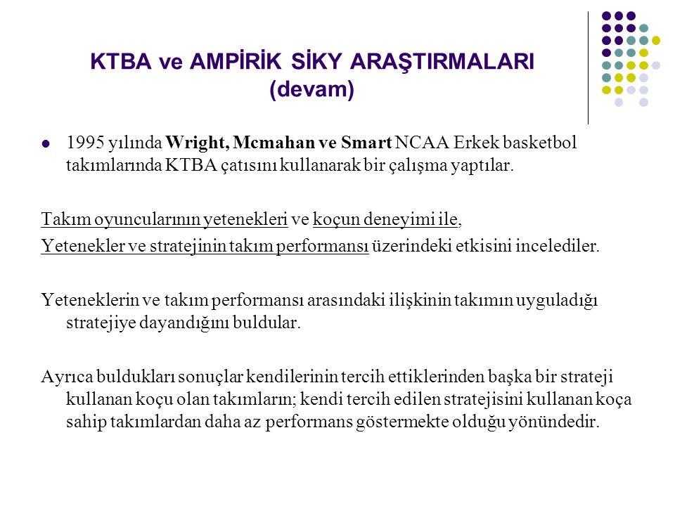 KTBA ve AMPİRİK SİKY ARAŞTIRMALARI (devam) Lepak ve Snell 1999 yılında yöneticilerden kendi İK sistemlerini tanımlamalarını istediler.