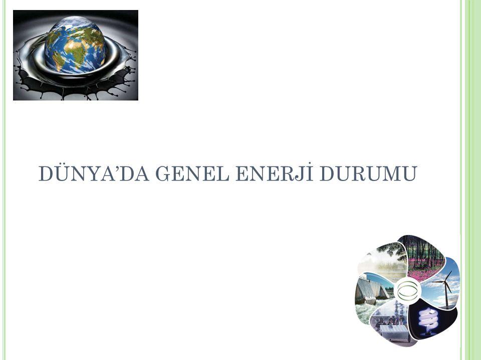 DÜNYA'DA GENEL ENERJİ DURUMU