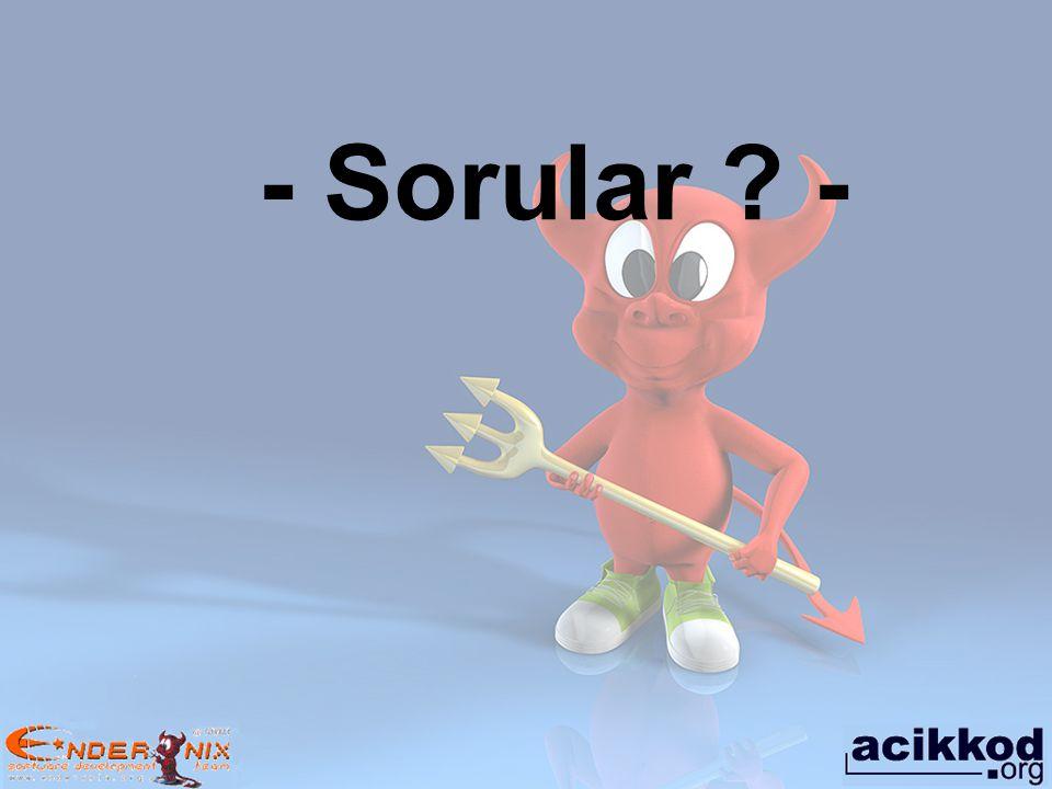 - Sorular ? -