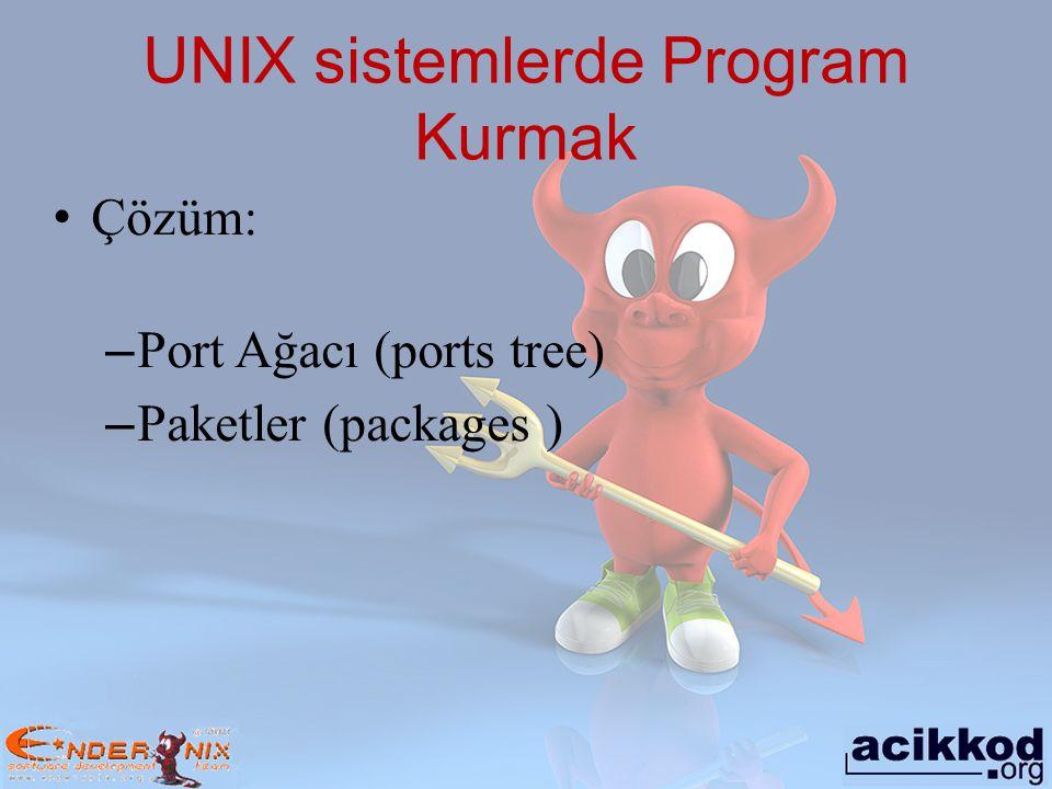 Port ağacı Uygulama yazılımları, kurulum detaylarını bilmeye gerek kalmadan kolayca kurulabilmeyi sağlayan kabuk betiklerini genel adıdır.