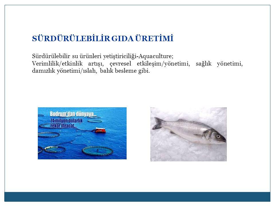 SÜRDÜRÜLEBİLİR GIDA ÜRETİMİ Sürdürülebilir su ürünleri yetiştiriciliği-Aquaculture; Verimlilik/etkinlik artışı, çevresel etkileşim/yönetimi, sağlık yö