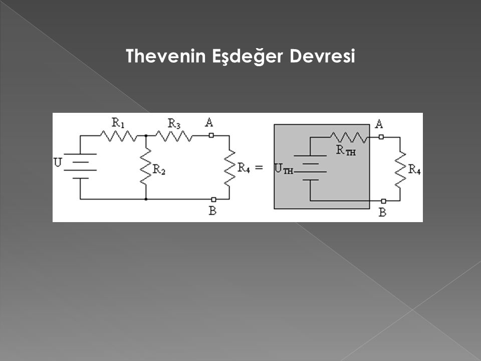 Thevenin Eşdeğer Devresi