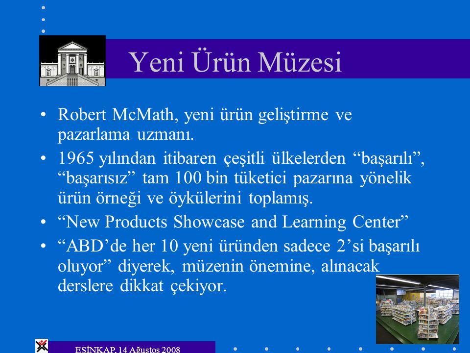 """Yeni Ürün Müzesi Robert McMath, yeni ürün geliştirme ve pazarlama uzmanı. 1965 yılından itibaren çeşitli ülkelerden """"başarılı"""", """"başarısız"""" tam 100 bi"""
