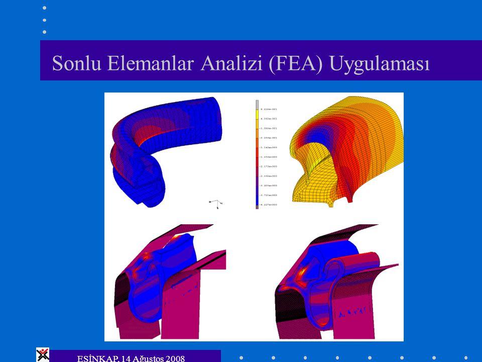 ESİNKAP, 14 Ağustos 2008 Sonlu Elemanlar Analizi (FEA) Uygulaması