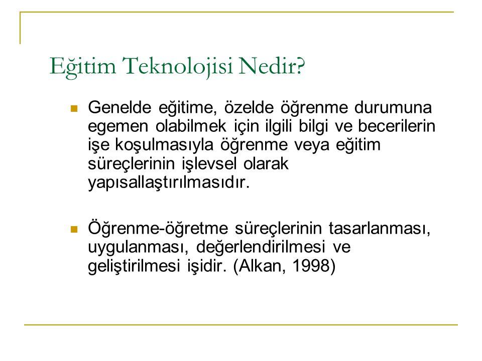 Eğitim Teknolojisi Nedir.