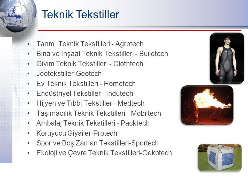 Teknik Tekstiller Tarım Teknik Tekstilleri - Agrotech Bina ve İnşaat Teknik Tekstilleri - Buildtech Giyim Teknik Tekstilleri - Clothtech Jeotekstiller