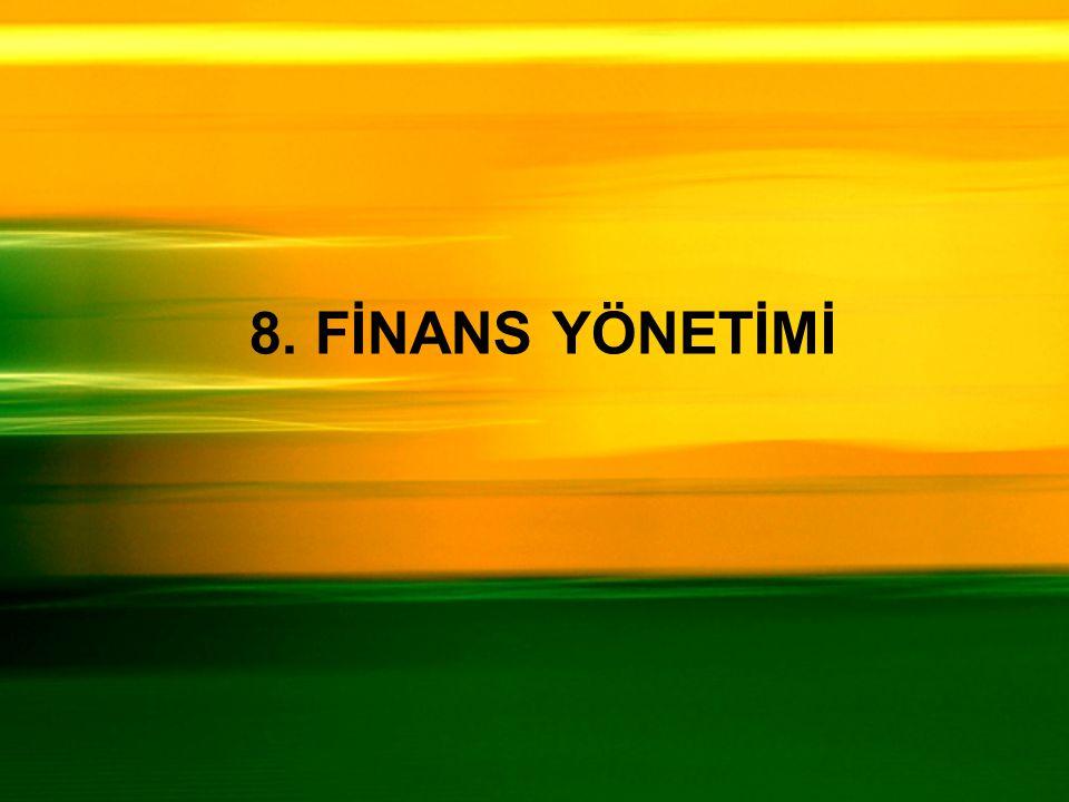 8. FİNANS YÖNETİMİ