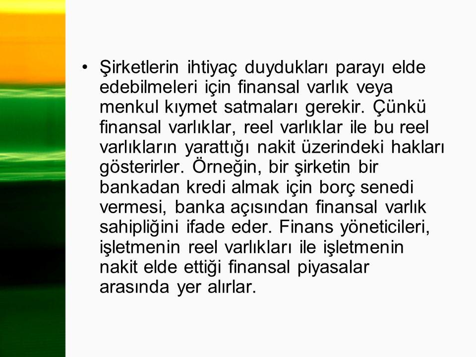 Bu cümleden anlaşılacağı gibi, finans yöneticisi iki temel sorunla karşı karşıya kalır.