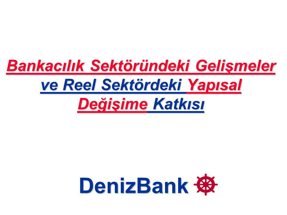 Bankacılık Sektöründeki Gelişmeler ve Reel Sektördeki Yapısal Değişime Katkısı DenizBank