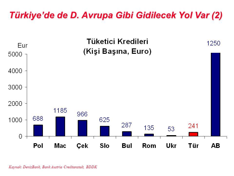 Türkiye'de de D. Avrupa Gibi Gidilecek Yol Var (2)